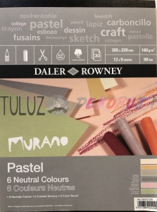 Blok Pastel Murano Neutral Colorurs 228x305mm 30ark