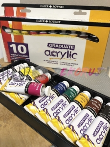 Zestaw Daler Rowney acrylic introduction set 10 X 38 ml