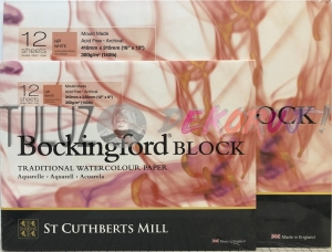 St Cuthberts Mill Bockingford HP Le Grain Satine 12ark 300g Blok Akwarelowy