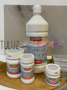 Pentart klej z lakierem decoupage Vernish and glue Pentart silky shine (jedwabisty połysk) od 50ml ...