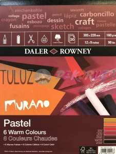 Blok Pastel Murano Warm Colorurs 228x305mm 30ark