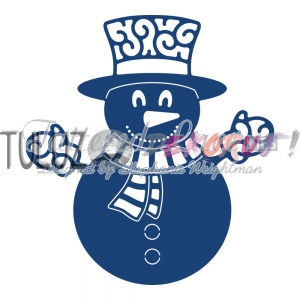 Wykrojnik Tattered Lace  - Snowmen  D890