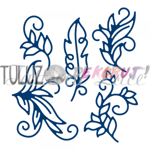 Wykrojniki Tattered Lace-Ornamental Flourishes   D1310