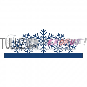 Wykrojnik Tattered Lace  - Over the edge snowflakes  D927